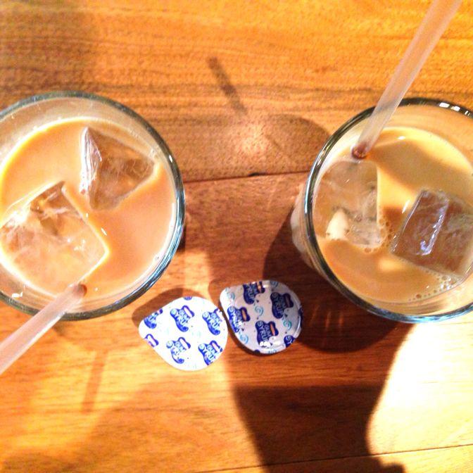 CRISSCROSSのアイスコーヒー