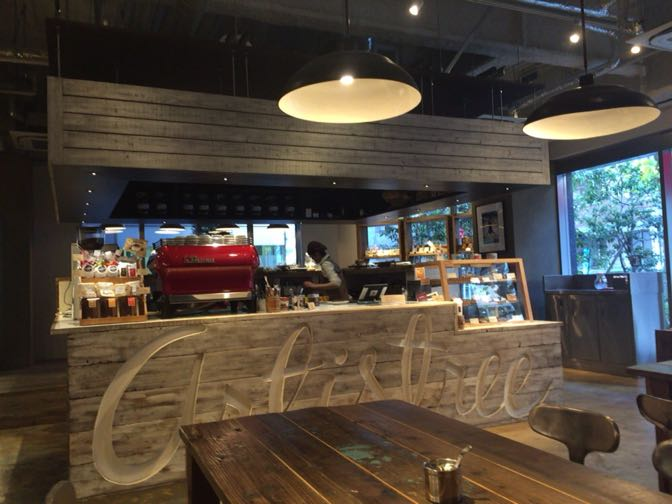Artistree Cafeのカウンター